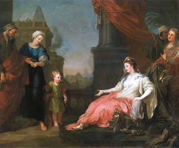 Moses Brought Before Pharaohs Daughter | William Hogarth | oil painting