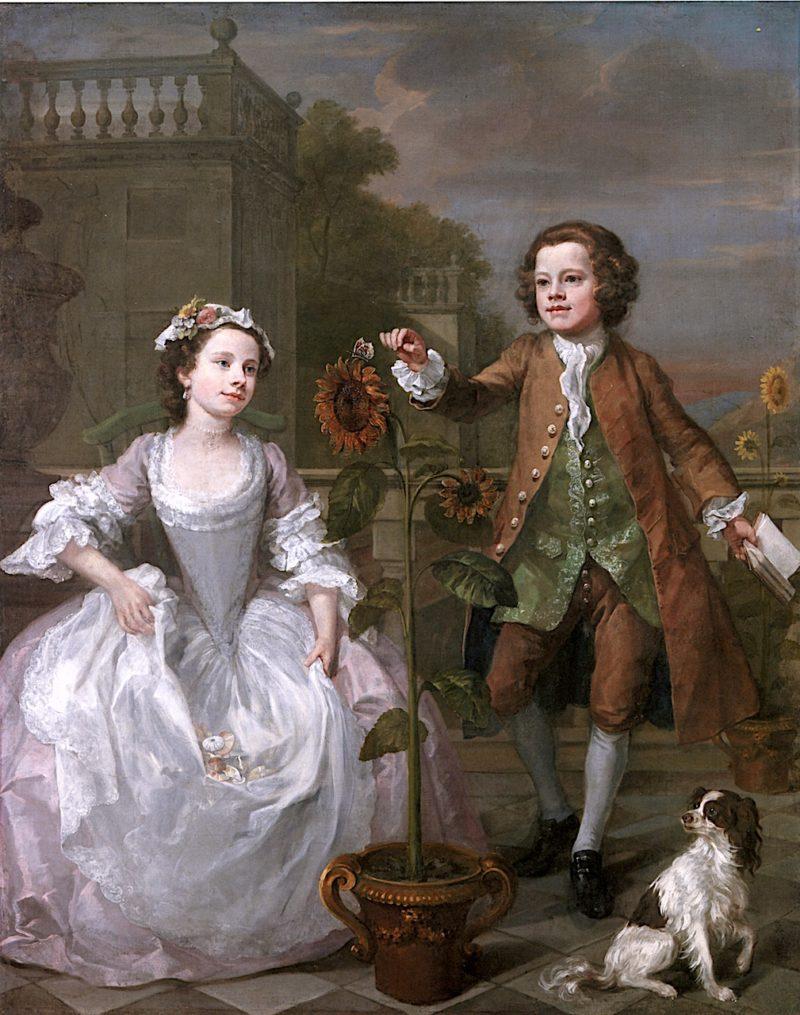 The Mackinen Children   William Hogarth   oil painting