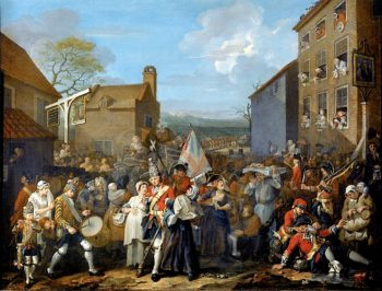 The March of the Guards to Finchley | William Hogarth | oil painting