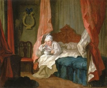 Francis Matthew Schutz in His Bed | William Hogarth | oil painting
