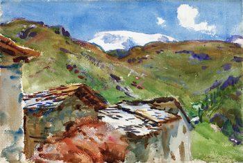 In Austrian Tyrol | John Singer Sargent | oil painting