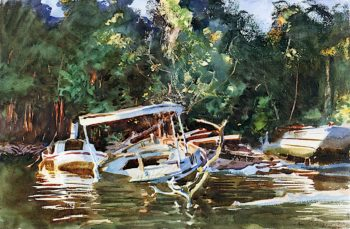Derelicts   John Singer Sargent   oil painting