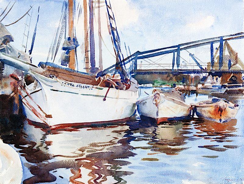 Boats at Anchor | John Singer Sargent | oil painting