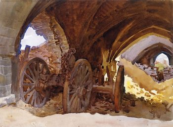 Wheels in a Vault | John Singer Sargent | oil painting