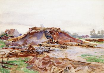 Camouflage   John Singer Sargent   oil painting