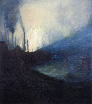 Nocturne à Pittsburgh | Aaron Harry Gorson | oil painting