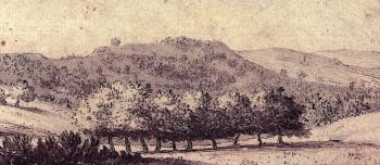 A Windbreak of Trees | Alexander Cozens | oil painting