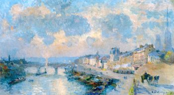 The Quai de Paris and the Port Corneille in Rouen | Albert Lebourg | oil painting