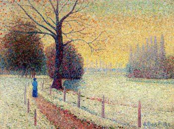 Le Puy in Winter | Albert Dubois-Pillet | oil painting