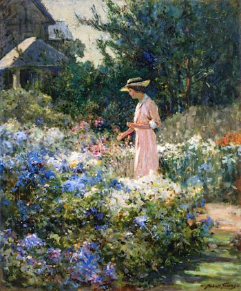 Lady in the Garden | Abbott Fuller Graves | oil painting