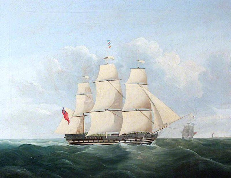 Three - Masted Frigate | William John Huggins | oil painting