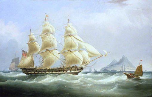 The East Indiaman Asia | William John Huggins | oil painting