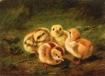 Chicks | Arthur Fitzwilliam Tait | oil painting