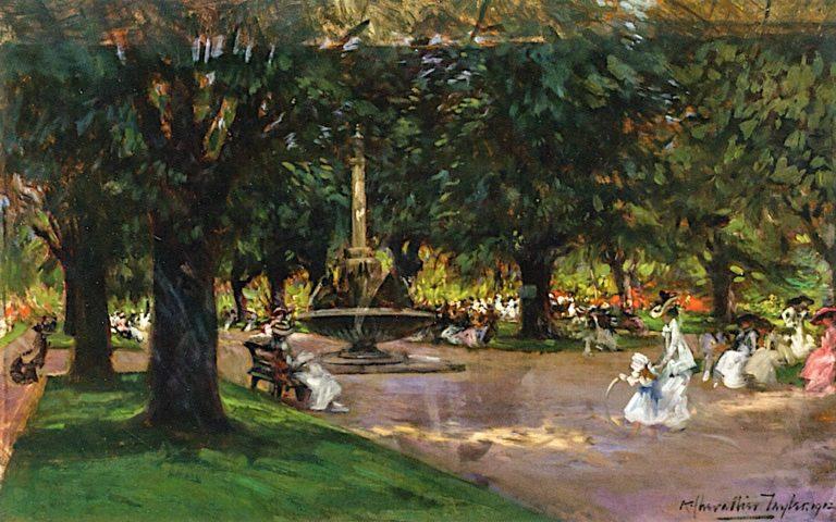In the Park   Albert Chevallier Tayler   oil painting