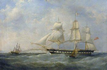 The East Indiaman Trafalgar | William John Huggins | oil painting