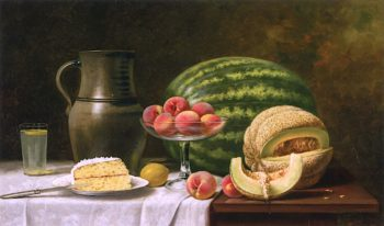 Still Life with Melons | Albert F. King | oil painting