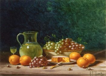 Still Life with Fruit and Cheese | Albert F. King | oil painting