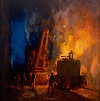 Feeding the Furnace | John William Howey | oil painting