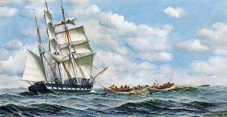Whaling Scene   Antonio Jacobsen   oil painting