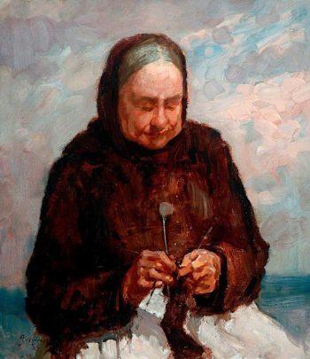 A Hartlepool Fish Wife | John William Howey | oil painting