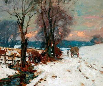 A Winters Afternoon | John William Howey | oil painting