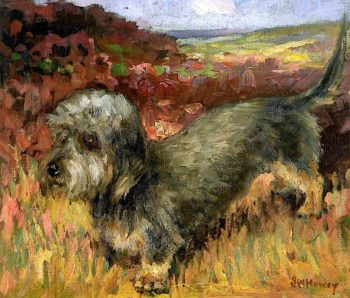 The Terrier Dog | John William Howey | oil painting