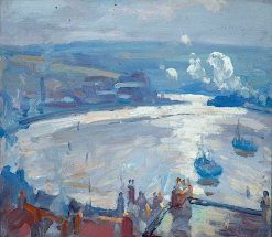 Sailing Boats on the River | John William Howey | oil painting