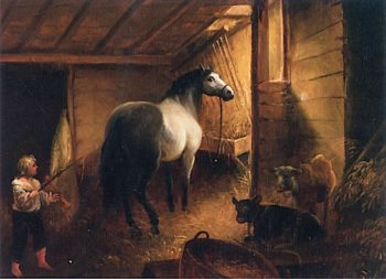 Stable Interior | Alvan Fisher | oil painting