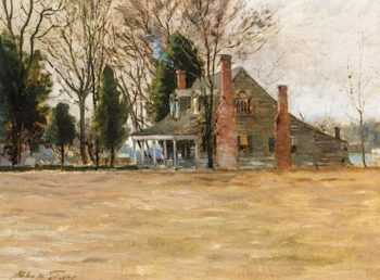 New England Homestead | Abbott Fuller Graves | oil painting