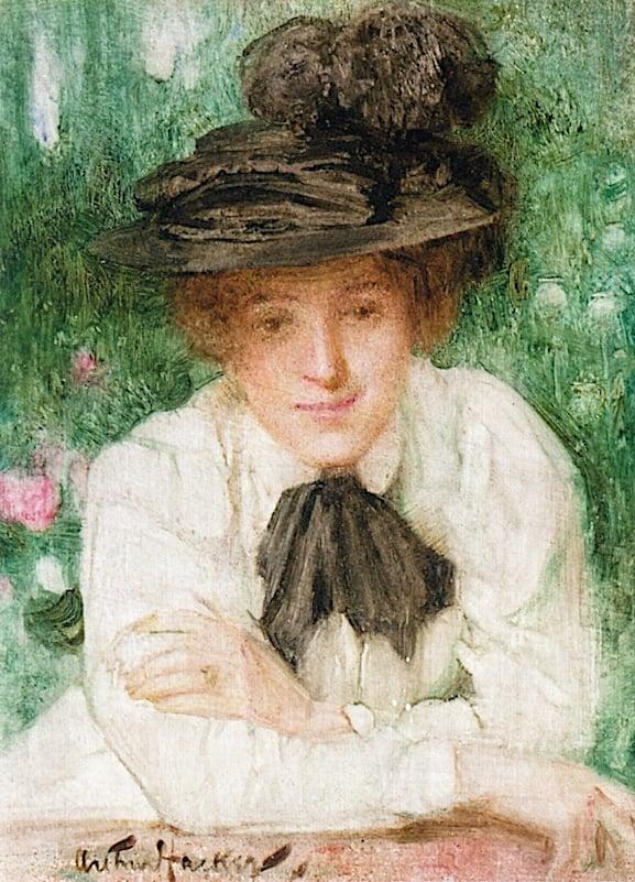 Portrait of an Edwardian Lady | Arthur Hacker | oil painting