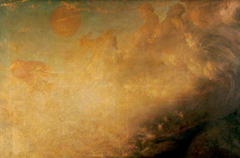 Phaeton and the Horses of the Sun | Sir William Blake Richmond | oil painting