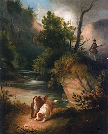 Hunter with Dogs | Alvan Fisher | oil painting