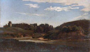 Landscape with a River | Sir William Blake Richmond | oil painting