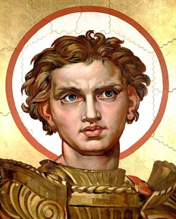 Head of Saint George (study for a mosaic) | Sir Edward John Poynter | oil painting