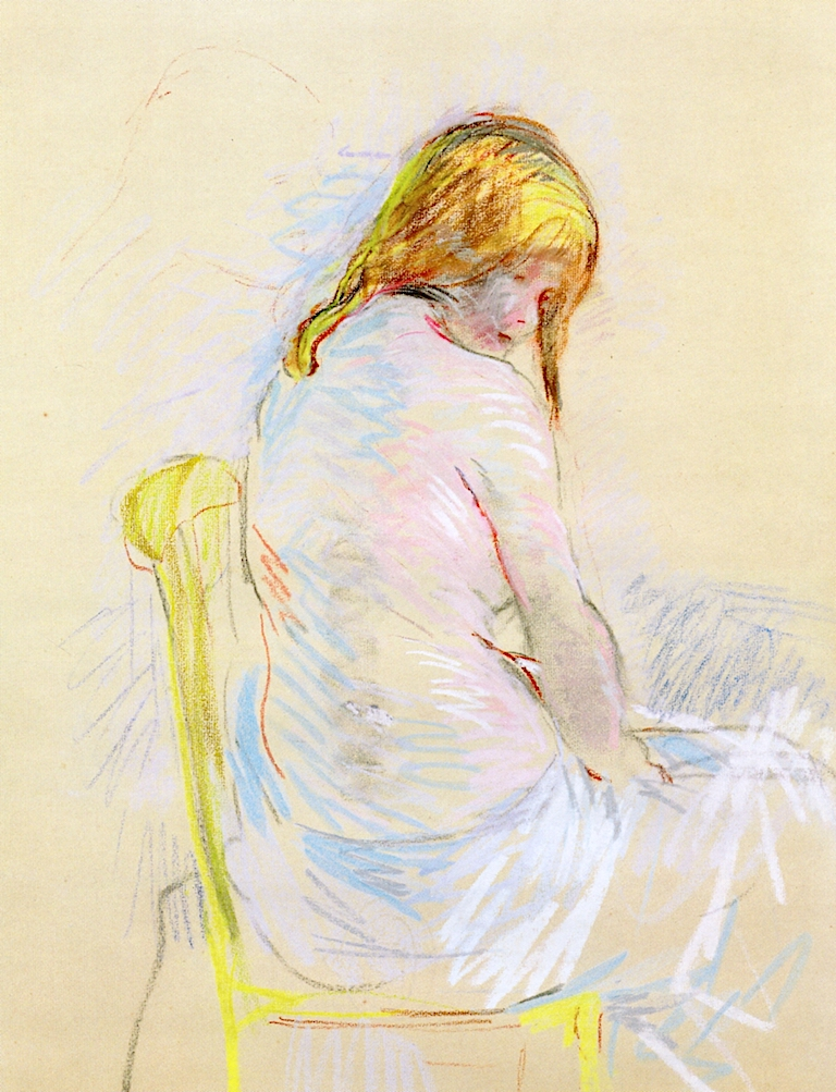 Before the Bath | Berthe Morisot | oil painting
