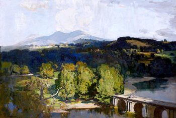 The Borderland | Sir Arthur Streeton | oil painting