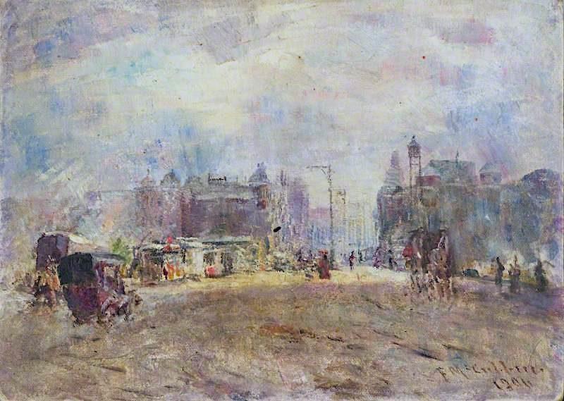 Glasgow Barras | Frederick McCubbin | oil painting