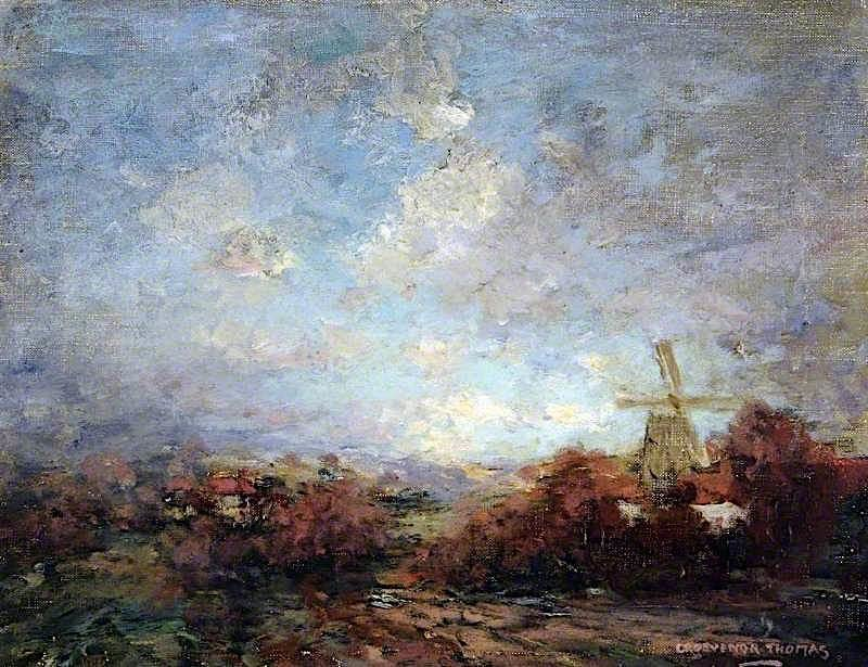 Landscape with a Windmill   Grosvenor Thomas   oil painting