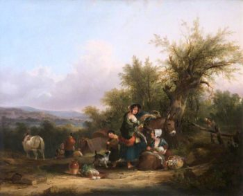 A Group of Gypsies | William Shayer Snr | oil painting