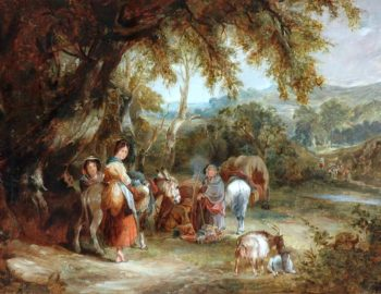 A Gypsies Encampment | William Shayer Snr | oil painting
