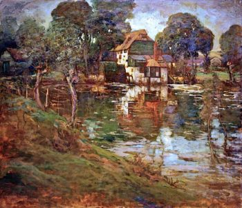 Houghton Mill on the Ouse | Grosvenor Thomas | oil painting