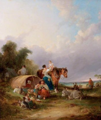 A Gypsy Encampment | William Shayer Snr | oil painting
