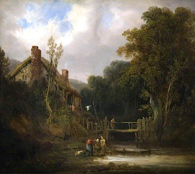 A Woody Stream | William Shayer Snr | oil painting