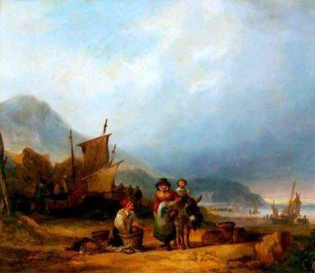 Buying Fish | William Shayer Snr | oil painting
