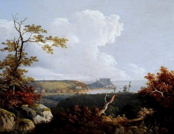 View of Mont Orgueil | John Tobias Young | oil painting
