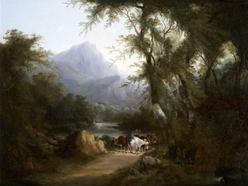 Cattle by a River | William Shayer Snr | oil painting
