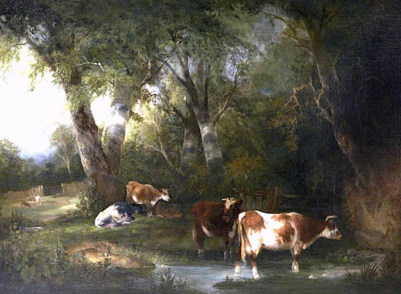 Cattle in a Wooded Landscape | William Shayer Snr | oil painting