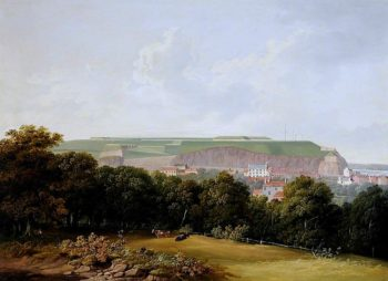 Fort Regent Overlooking St Helier | John Tobias Young | oil painting
