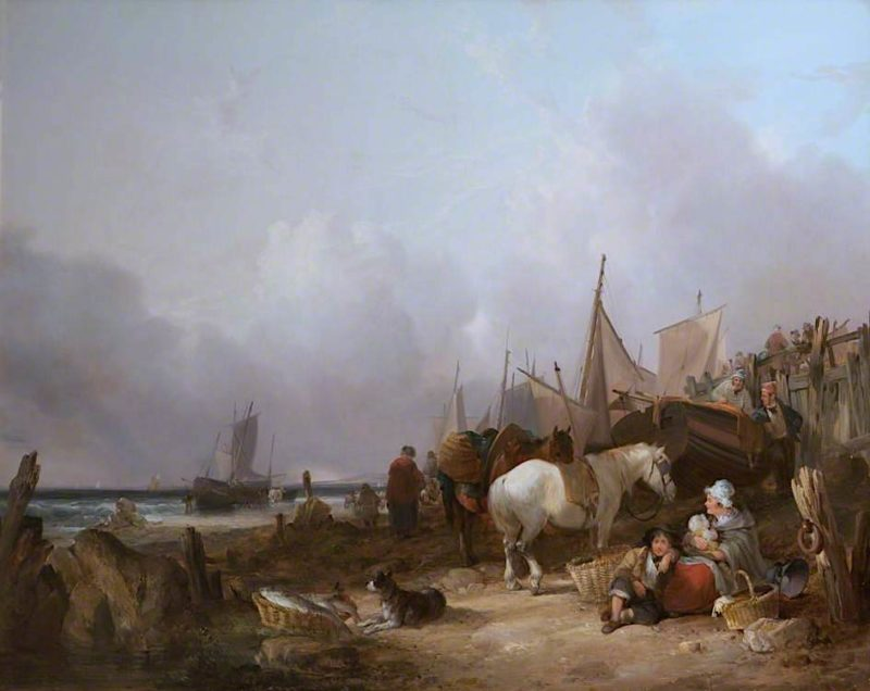 Coast Scene with Donkey | William Shayer Snr | oil painting