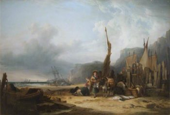 Coast Scene with Shipping | William Shayer Snr | oil painting